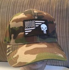 Punisher Flag Camoflauge Baseball Cap USA hat Jungle Camo