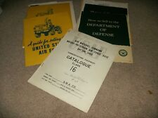 United States Air Force / Department Of Defense Paper Lot Chicago Ill. - 1949-53