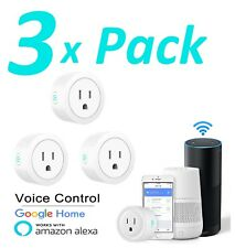 3X Wifi Smart Plug Remote Control Outlet Socket Works with Alexa & Google Home