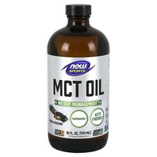NOW Foods MCT Oil, Vanilla Hazelnut 16 fl. oz FREE SHIPPING. MADE IN USA