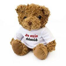 NEW - Je Suis Désolé Cute Teddy Bear - Gift To Say Sorry - Present Cadeau