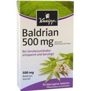 KNEIPP Baldrian 500 überzogene Tabletten 90 St 00563513 Kneipp