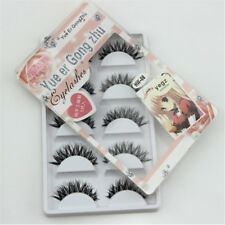 NEW Natural clear band False eyelashes Winged eye lashes Daily eyelashes 5 pairs