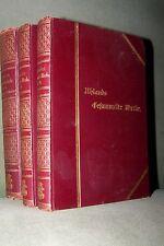 1892 Uhlands gesammelte Werke in sechs Bänden 3 Bücher COTTA Ludwig Uhland antik