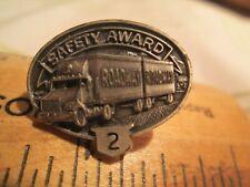 Vtg Roadway 2 Year Trucking Safety Award Driving Pinback nr