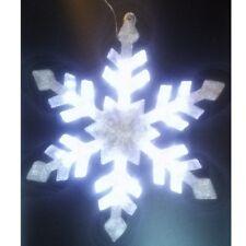 LED flocon de neige XXL pour accrocher 50 LED 59cm Décoration de Noël +