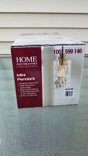 Home Decorators Collection 1-Light Brushed Nickel Mini-Pendant with Clear Glass