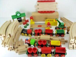 Lot Of Brio Brand Wooden Train Tracks Trains & Accessories