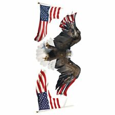 """Garage Graphics Wall Stickers 17""""X40""""-US Flag (Eagle)"""