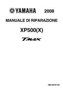 Manuale Officina, Riparazione, Tagliando Yamaha TMax 500/2008-2009-2010-2011 ITA