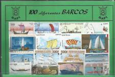Conjunto de 100 Sellos usados diferentes del tema: BARCOS.