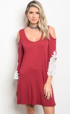 NWT Small Women's Red Lace Dress Tunic BOUTIQUE Holiday