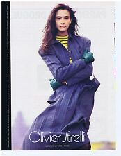 PUBLICITE ADVERTISING 104 1987 OLIVIER STRELLI prêt à porter