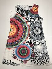 Stella Morgan Designer Ladies Crochet Net Dress Sz 12 Sleeveless Geometric