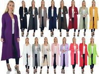 SR Women's Long Sleeve Full Length Duster Cardigan (Size: S-5X) AT1206