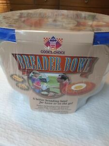 New Cook's Choice Breader Bowl Made in USA A Better Breading Bowl Non Breakable