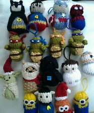 Marvel, DC, Star wars , TV superheros knitted  x 1 any character available