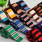 Men's Fashion Colourful Stripe Knit Knitted Woven Tie Necktie Narrow Slim Skinny