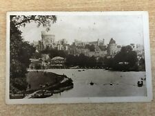 Windsor Castle from River, London, Photograph Postcard c.1910