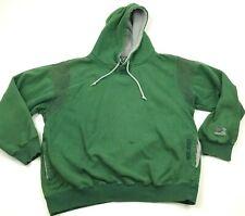 VINTAGE Starter Sweater Hoodie Size Medium Green Pullover LongSleeve Heavyweight