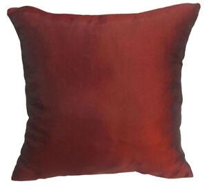 Ja141a 2 Pcs x Red Brown Poly Taffeta Plain Cushion/Pillow Cover*Custom Size