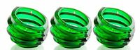 3 Pack Orrefors Eko Crystal Votive Glass Tealight Candleholder, Green Candy Dish