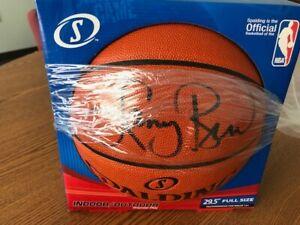 Larry Bird autographed basketball COA included