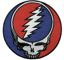 Grateful Dead Steal Your Face Large Embroidered Back Patch G042P Jerry Garcia