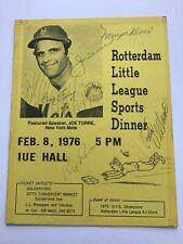 Joe Torre and Others Signed Handout-JSA Authenticated