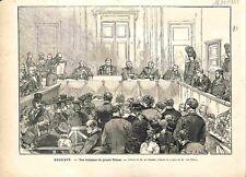 Audience Tribunal Procès Armand Peltzer Belgique Edmond Picard GRAVURE 1882