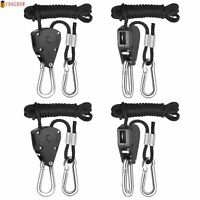 """10X 1/8"""" Rope Ratchet Hanger For LED Grow Light Fan Carbon Filter Hydroponic IR"""