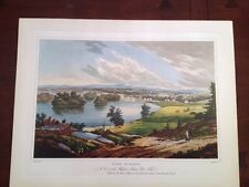 Antique Lithograph Art Print Fort Edward Hudson River Port Folio W.G. Wall