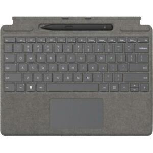 Microsoft Surface Pro Signature Keyboard Platinum with Surface Slim Pen 2 Black