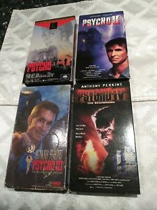 Psycho VHS Lot Complete 1 2 3 4 Hitchcock Slasher Perkins Horror