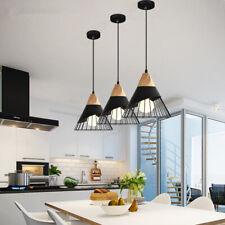 3X Black Pendant Light Room Ceiling Lamp Bar Lights Kitchen Chandelier Lighting