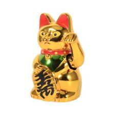 5 Zoll Glückskatze Winkekatze Glücksbringer winkende Katze Golden Feng Shui Neu
