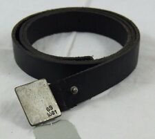 BNWT G-Star Raw Correct Line Genuine Black Leather Belt Gray Metal Buckle sz XL