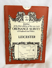Reprint 1st Ed. One Inch Ordnance Survey Map -Sheet 43 - Leicester