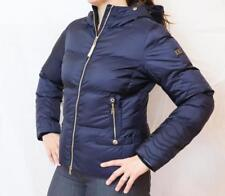 NEW BOGNER CORA-D DOWN JACKET Women's Navy Blue Puffy Ski Coat w/Gold Accents