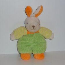 Doudou Lapin Nounours - Vert Jaune Orange