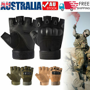 Hard Knuckle Fingerless Tactical Gloves Half Finger Military Army Combat Hunting