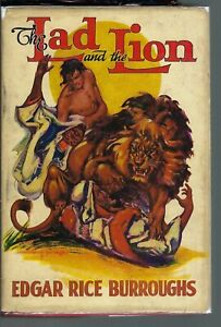 Edgar Rice Burroughs THE NLAD AND THE LION Dustjacket G&D