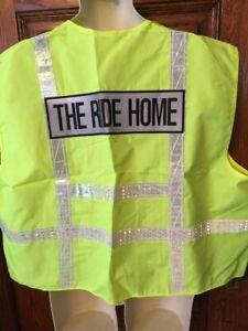 "Harley-Davidson ""The Ride Home"" Yellow Hi-Vis Reflective SAFETY VEST Sz 2X Nice!"