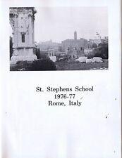 St. Stephens School 1976-77 Rome, Italy
