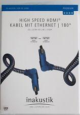 inakustik Premium II HDMI Kabel 180° Winkelstecker / 2 m  HDMI 1.4 / 0042312