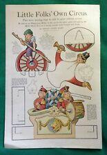ca1920s Vtg Henry Anson Hart Little Folks Circus Cutout Dolls ~ Mechanical Toys