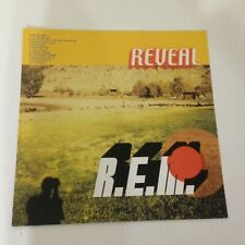 R.E.M. Reveal Double Sided Poster Flat Vinyl Lp/Cd/Cassette promo! rem rock New!