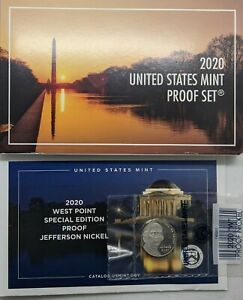2020 S US Mint Proof Set - 11 Coins - Extra W Nickel Included Unopened from Mint