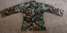 Military USAF US Air Force Combat BDU Woodland Camouflage Coat Medium Regular