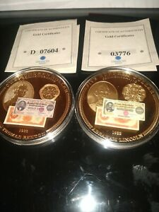 Commemorative $500 And $100 Gold Certificate Coins 24k gold layer